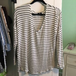 BDG black and white striped sweater